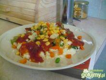 Kuskus z warzywami po węgiersku