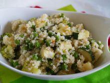 Kuskus z zielonymi warzywami