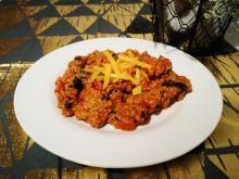 Kuskusowe danie z mięsem z indyka i szpinakiem