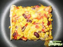 Kwadratowa pizza na bogato wg Elfi