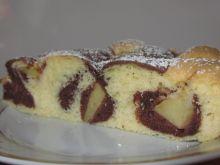 Łaciate ciasto z gruszką