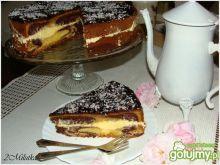 Łaciate ciasto z kremem