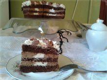 Łaciaty torcik czekoladowo-waniliowy