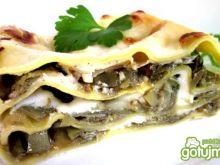 Lasagne z karczochami  i mozzarellą