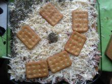 Lasagne z krakersami i szpinakiem