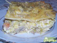 Lasagne z pieczarkami i porem