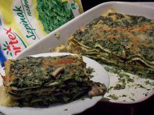 Lasagne ze szpinakiem i boczniakami
