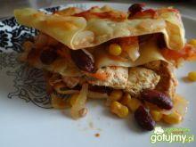 Lazania meksykańska z kurczakiem