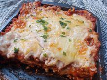 Lasagne z mięsem mielonym i sosem meksykańskim