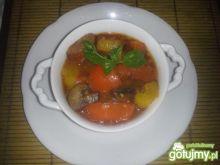 Leczo z cukinią i pieczarkami