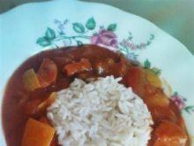 Leczo z cukinią i ryżem