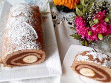 Lekka rolada z kremem czekoladowo-dyniowym