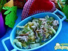 Lekka sałatka z wędzonej makreli