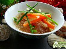Lekka zupka z makaronem ryżowym