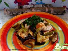 Lekki obiad z kurczakiem i bakłażanem