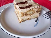 Lekkie ciasto kawowe z biszkoptami na wzór tiramis
