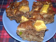 Leniwe ciasto jabłkowo - gruszkowe
