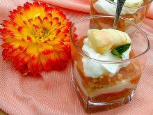 Limonkowy sernik na zimno z musem morelowym