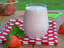 Lodowo - truskawkowy shake