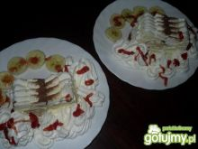 Lodowy deser z bananami