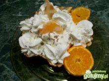 lodowy deser z mandarynką