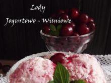 Lody jogurtowo wiśniowe