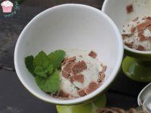 Lody miętowe z czekoladą bez jaj