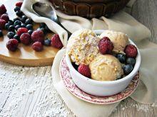 Lody o smaku kinder z kokosem i orzechami