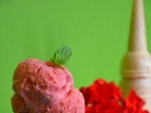 Lody truskawkowe bez maszynki