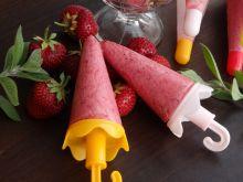 Lody truskawkowo-jogurtowe z nutą mięty