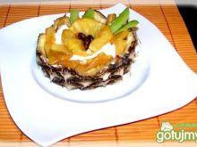 Lody waniliowe z karmelowym ananasem