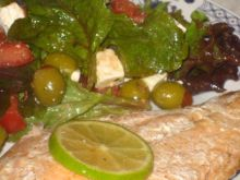 Losos z cytryna,sola i pieprzem