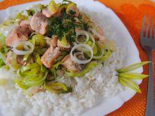 Łosoś z ryżem na obiad