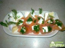 Łosoś z serem pleśniowym