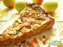 Lukrowany jabłecznik z migdałami