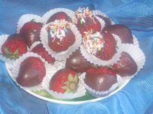 Maczane truskawki