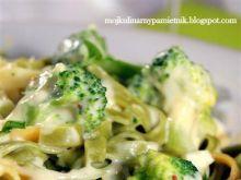Makaron, brokuł i 3 sery