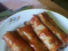 Makaron cannelloni z sosem spaghetti