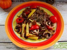 Makaron gryczany z warzywami 2