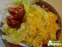 Makaron odsmażany z jajkiem i Mozarellą