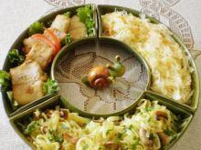 Makaron ryżowy na pieczarkowo :