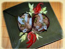 Makaron ryżowy w kubku bakłażanowym