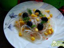 Makaron ryżowy z kukurydzą