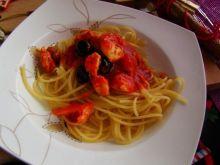 Makaron spaghetti z oliwkami