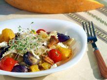 makaron wstążki z pieczonymi warzywami