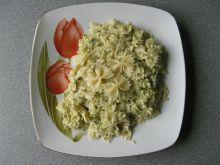Makaron z brokułami i lazurem