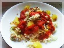 Makaron z dynią w sosie pomidorowym