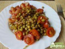 makaron z groszkiem i pastą curry