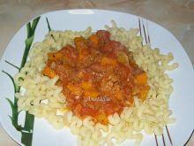 Makaron z kabaczkiem i pomidorami