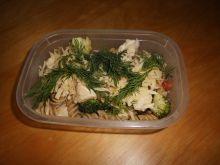 Makaron z kurczakiem i brokułami